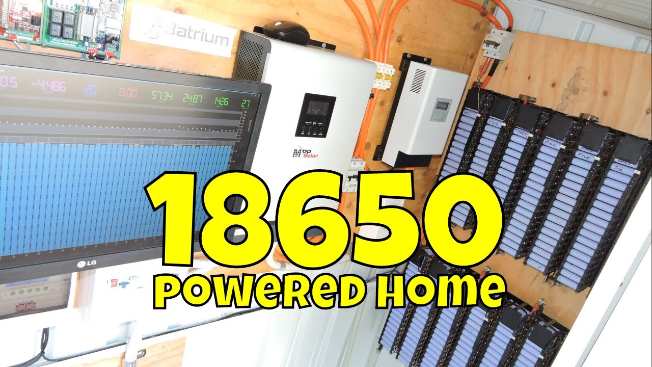 18650 Diy Powerwall Built From Used Laptop Batteries