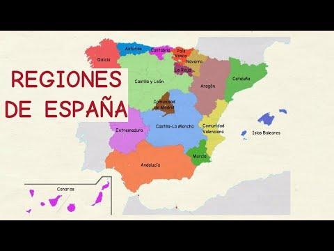 Aprender español: Comunidades autónomas de España (nivel básico)