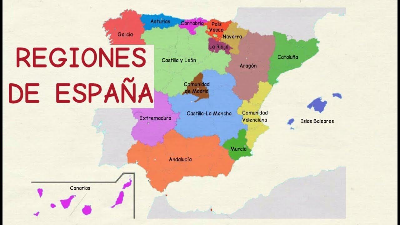 Aprender Español Comunidades Autónomas De España Nivel Básico Youtube