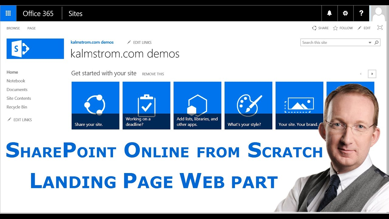 Sharepoint List Landing Page With Web Part Youtube