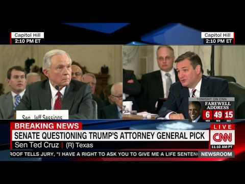 Ted Cruz defends Jeff Sessions from attacks by Al Franken