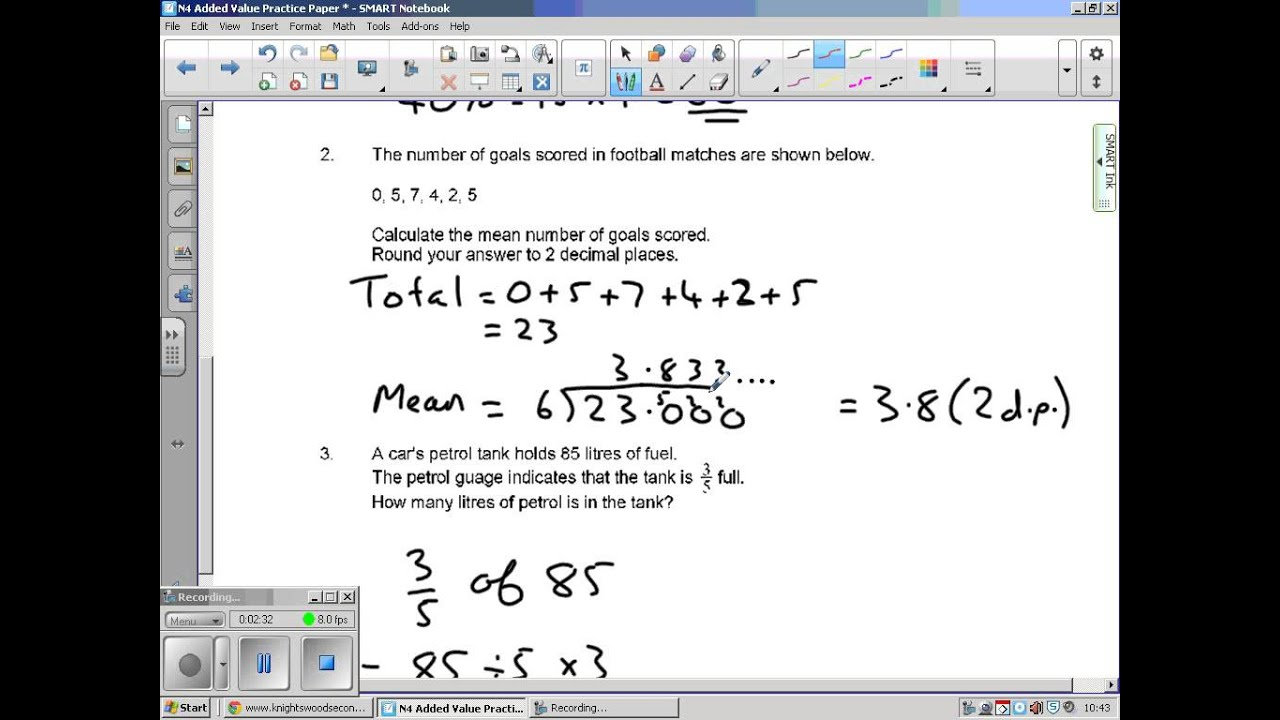 National 4 Maths Added Value Unit Paper 1 - YouTube
