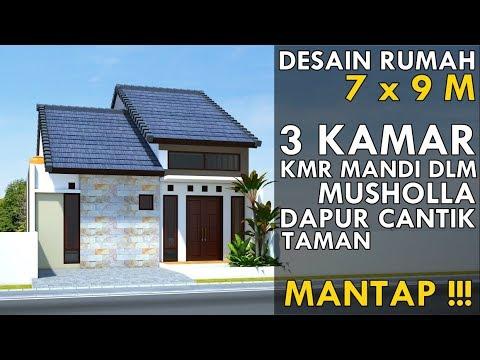 Gambar Desain Rumah Minimalis 6 X 9  house plan 7 x 9 m casa 7 x 9 m