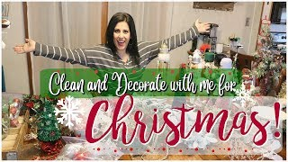 *NEW* DECORATING MY HOUSE FOR CHRISTMAS!    CLEAN AND DECORATE WITH ME 2018