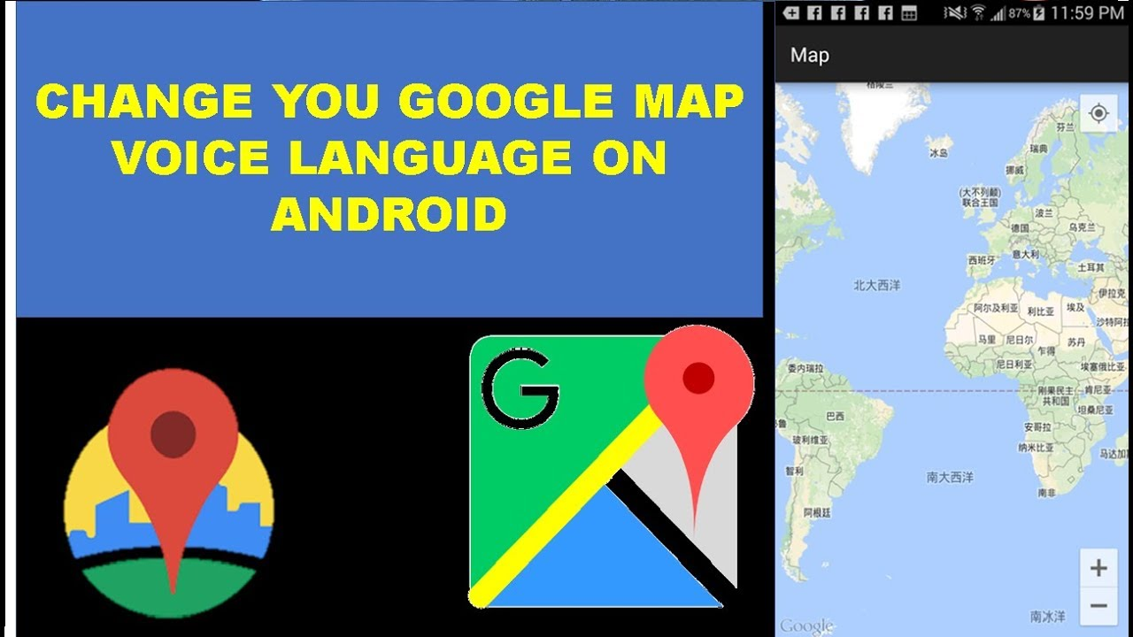 How To Change Google Maps Voice Langauges On Android Youtube