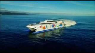 Incat Giant High Speed catamaran Ferry -  Natchan Rera of  Higashi Nihon Ferry