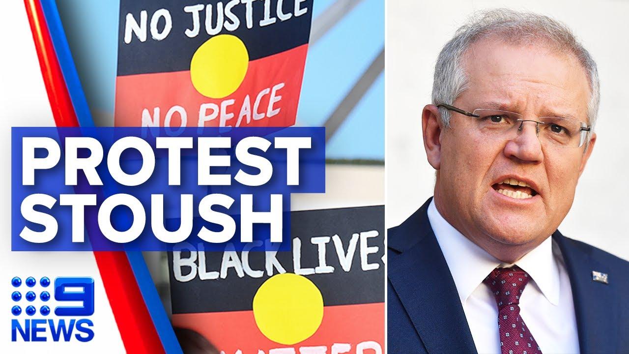Australia's Black Lives Matter protests, COVID-19 fears | 9 News Australia