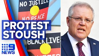 Australia's Black Lives Matter protests, COVID-19 fears | 9 News Australia