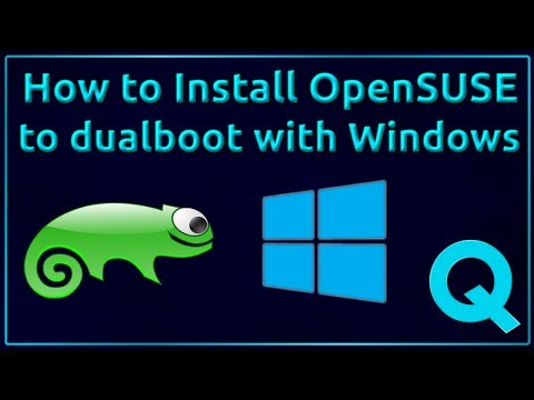 How to install OpenSUSE to Dual Boot with Windows