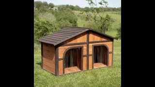 Extra Large Duplex Dog House Darker Stain by Merry Products