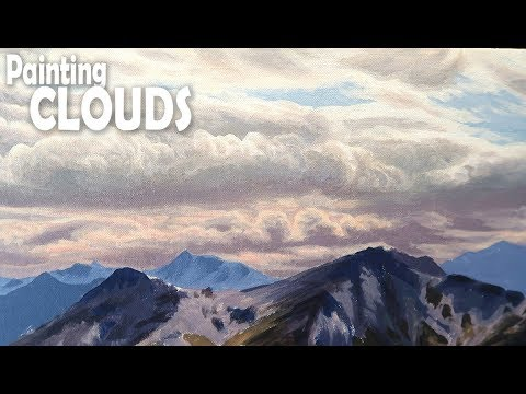 How to Paint a Landscape: Step 2 - Clouds and Sky