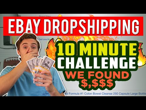 Ebay Dropshipping 10-Minute Challenge - Finding Super Profitable Products To Dropship! thumbnail