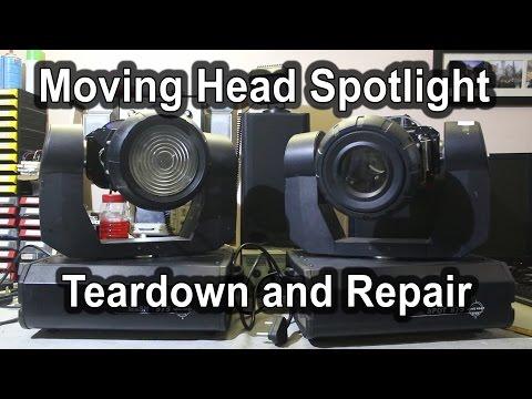 #6 Martin 300 Moving Head Rip-Off Spot Light Teardown and Repair