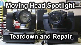 6 martin 300 moving head rip off spot light teardown and repair