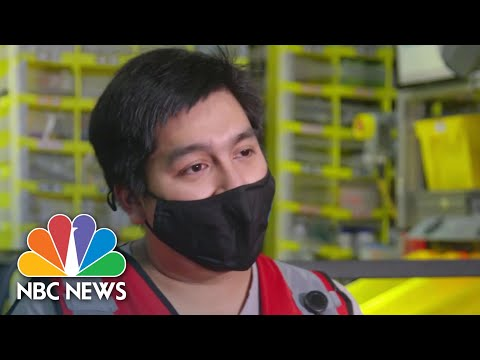 Behind The Scenes At An Amazon Warehouse   NBC Nightly News
