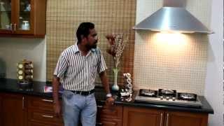 Modular Kitchen - Indian Context - Chimney, Hob & Sink