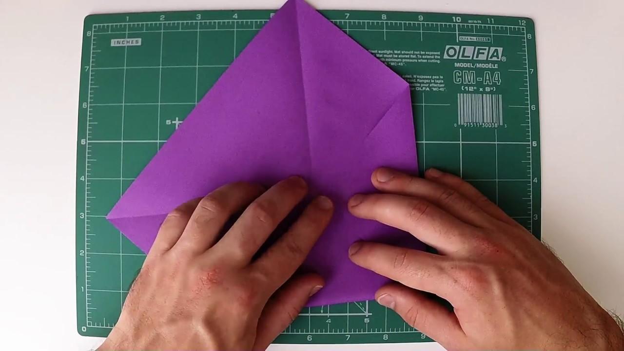 How to make origami crocus flower youtube mightylinksfo