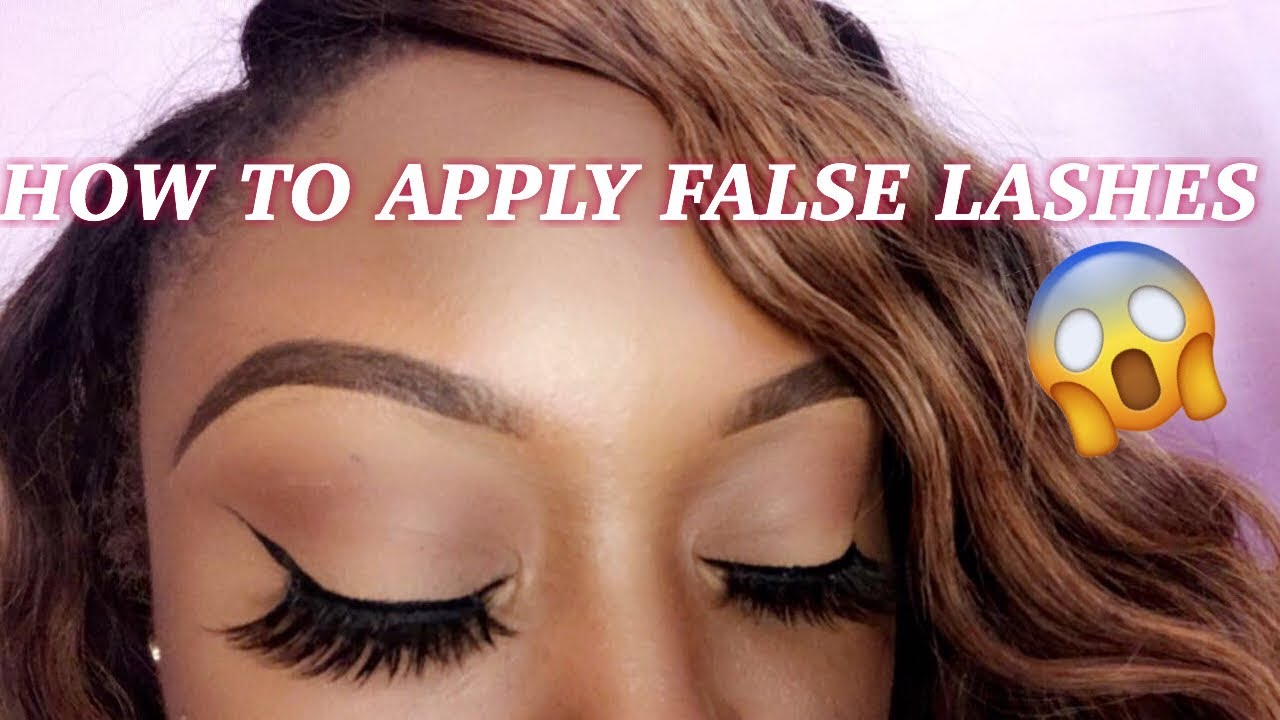 8e041d20749 HOW TO APPLY FALSE EYELASHES! | ft. EYLURE x ANN LE FAUX MINK LASHES ...