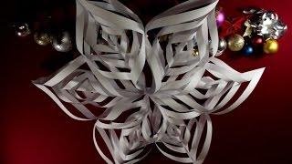 Как сделать снежинки из бумаги своими руками Объемная снежинка Новогодние Поделки на Новый Год 2017(Новогодние поделки 2017 - Подготовка к Новому Году и Рождеству 2017. В этом видео вы узнаете как при помощи..., 2015-11-24T19:29:39.000Z)