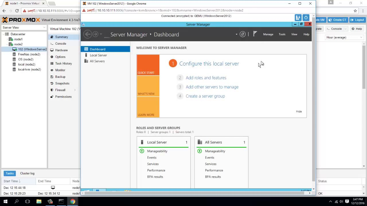 How To Make VM Windows Server 2012 R2 On Proxmox 4.x - YouTube