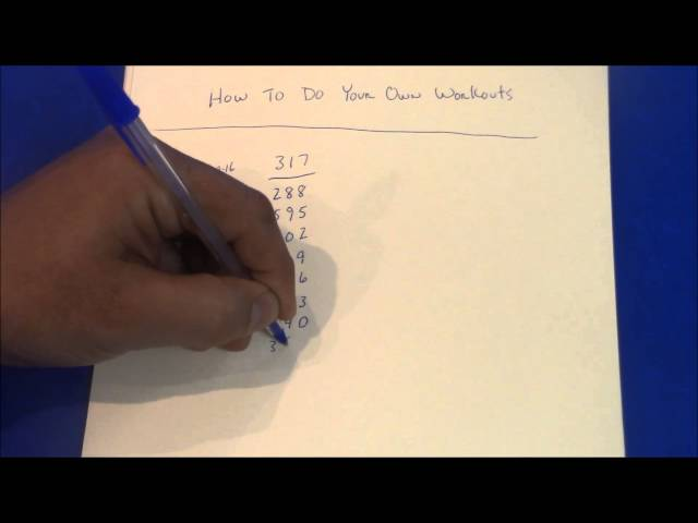 PICK 3 PICK 4 WORKOUTS 4/29/16 HOW TO DO YOUR OWN CHARTS
