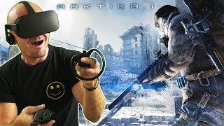 POST-APOCALYPTIC FPS IN VIRTUAL REALITY   ARKTIKA.1 Oculus Rift Gameplay #1