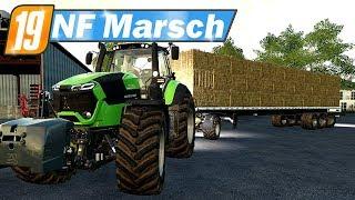 LS19 NF Marsch #57 - Neuer Ballenanhänger für die Heuballen   Farming Simulator 19 Video