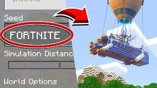 "Minecraft ""FORTNITE"" SEED - Fortnite WORLD! (Ps3/Xbox360/PS4/XboxOne/PE/MCPE)"