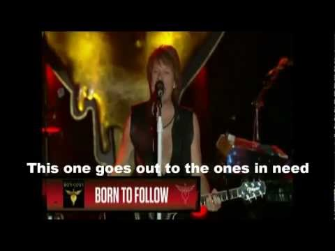 Bon Jovi - We Weren't Born To Follow Lyrics