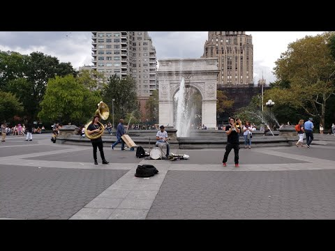⁴ᴷ⁶⁰ Walk Washington Square Park | NYC Narrated Walking Tour