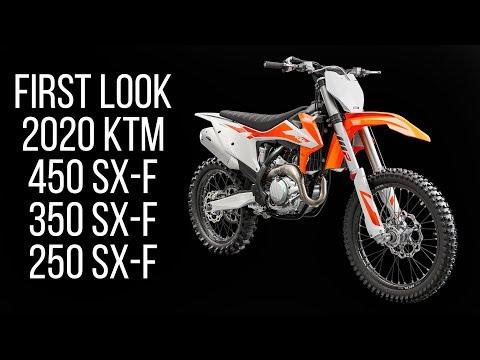 First Look: 2020 KTM 250 SX-F, 350 SX-F, 450 SX-F