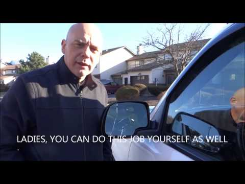 How to Replace and Repair a crack or broken Car or Truck Mirror Glass