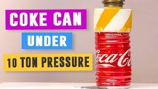 Coke Can vs 10 Ton Hydraulic Pressure