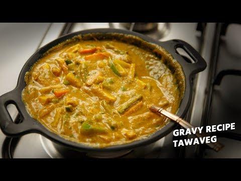 Easy Tawa Mix Veg Gravy Sabji Lunch Recipe - Restaurant Style CookingShooking