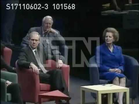 Sir Edward Heath & Margaret Thatcher Conservative Party Conference 1998