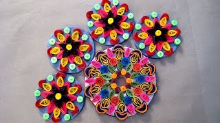 How To Make Rangoli - A Ravishing Rangoli Design By Paper Quilling Craft @ ekunji.com
