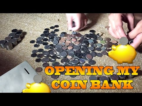 Opening my Coin Bank (22-June-2016) OFW LIFE IN DUBAI