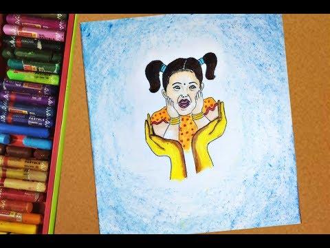 Modern Art On Save Girl Child