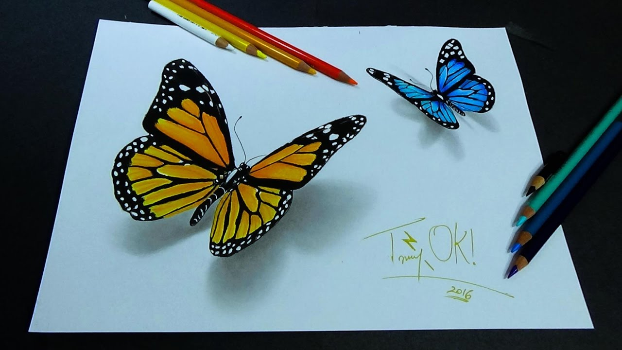 Uncategorized Buterfly Drawing crazy 3d butterfly drawing youtube drawing