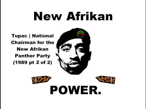 RBG| Tupac ShakurSpeaks - National Chairman for the New Afrikan Panther Party (1989) pt 2 of 2