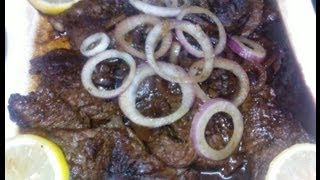 How to Cook Pinoy Bistek (Filipino Beef Steak)