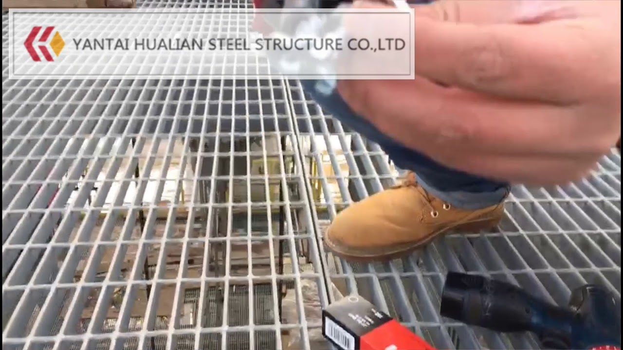 Steel Graring Installed by HILTI brand clamps | Steel Grating Manufacturer