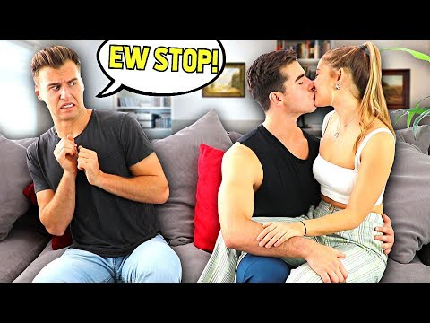 Being PDA With Girlfriend In FRONT Of BROTHER To See How He Reacts..