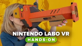 Nintendo Labo VR had us looking up a duck's butt