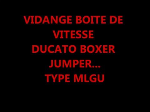 vidange et niveau boite de vitesse ducato boxer jumper youtube. Black Bedroom Furniture Sets. Home Design Ideas