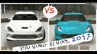 Driving School 2017 - Dodge Viper vs Chevrolet Corvette Drag Race