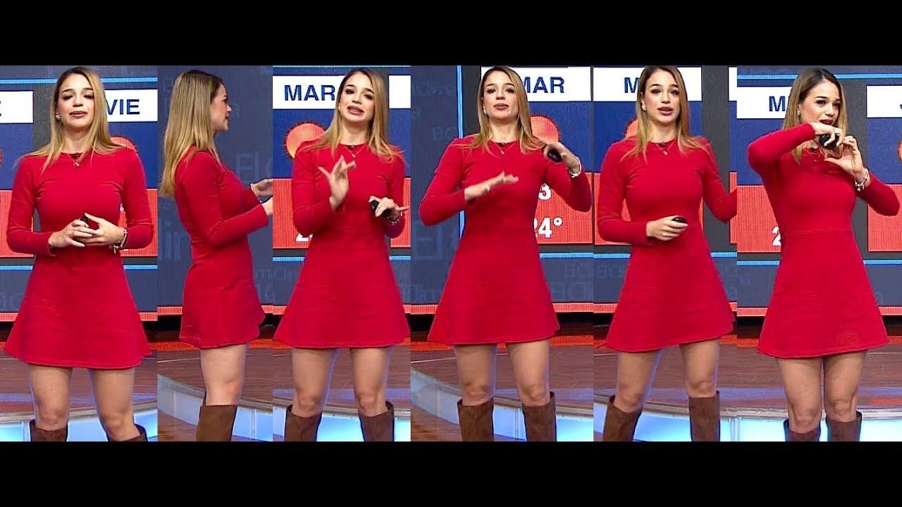 Ana Ceci Gonzalez En Vestido Rojo