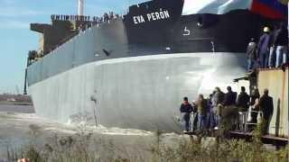 """Bautizo y Botadura del buque """"EVA PERON"""" en el Astillero Rio Santiago.  12 de Julio 2012"""