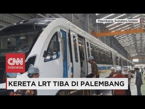 Kereta LRT Tiba di Palembang