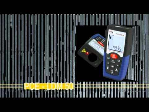 Entfernungsmessgerät pce ldm 50 youtube